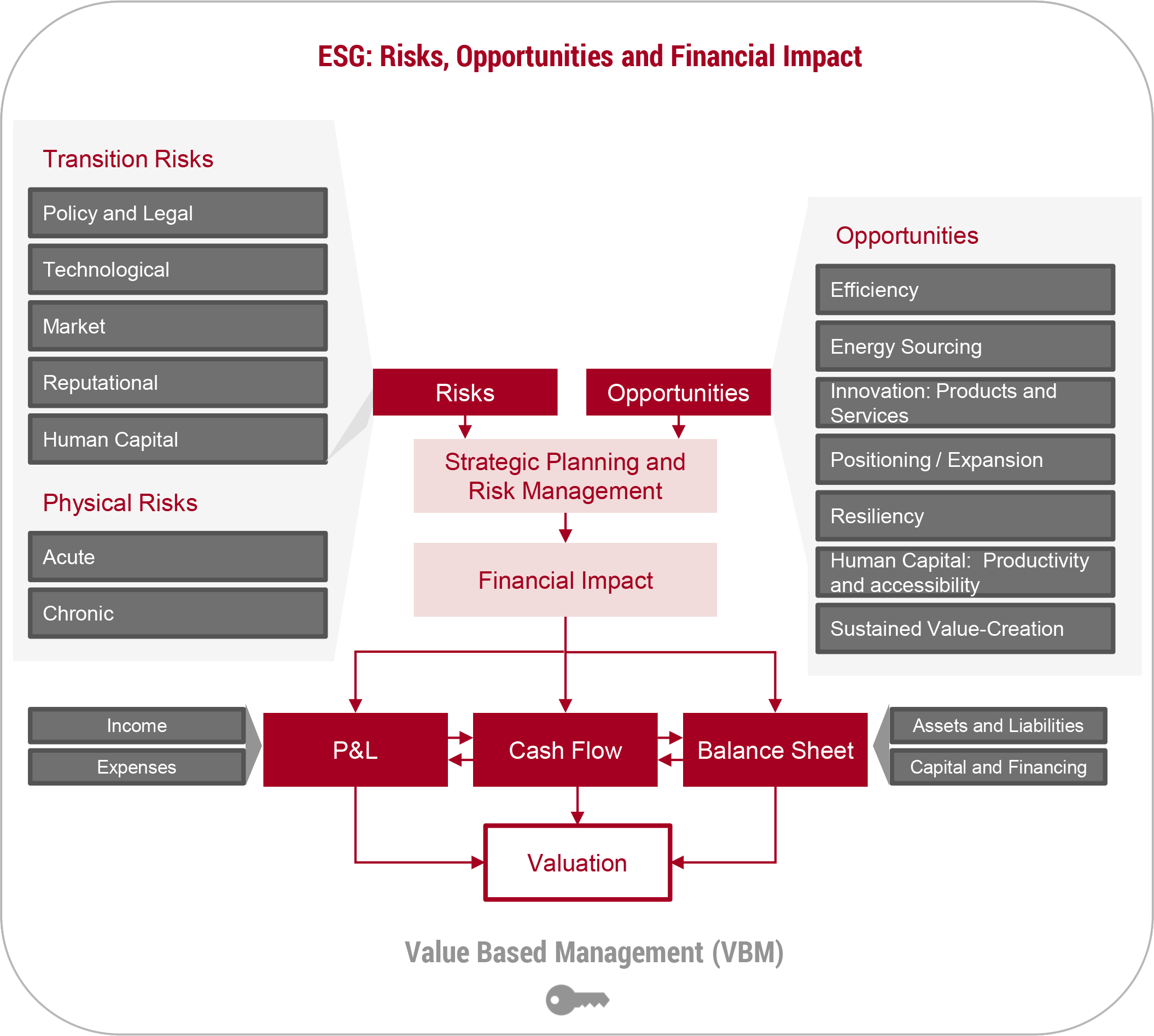 ESG Risks, Opportunities and Financial Impact Flow Chart